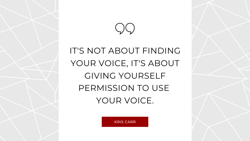 Usha Maharaj Motivational Quote #7 - It's not about finding your voice, it's about giving yourself permission to use your voice.